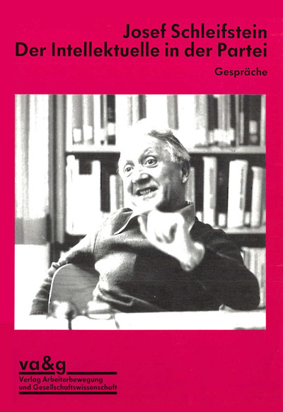 Das Foto zeigt das Buch mit Joseph Schleifstein.